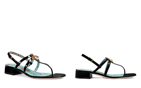 Gucci Women's Patent Leather Bee Sandals - Bloomingdale's_2